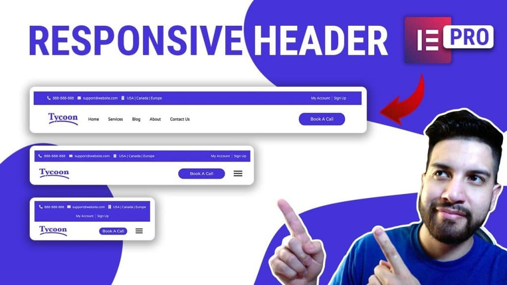 How To Build A Responsive Header On Elementor Pro