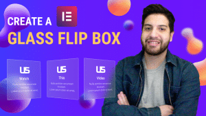 elementor glass flip box