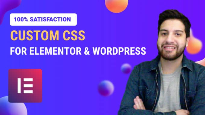 add custom css to your elementor website