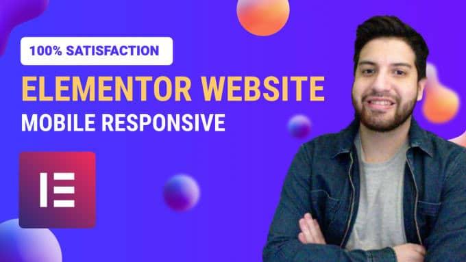 build you a responsive elementor website