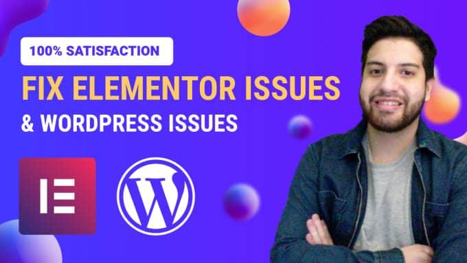 fix any elementor pro wordpress issues