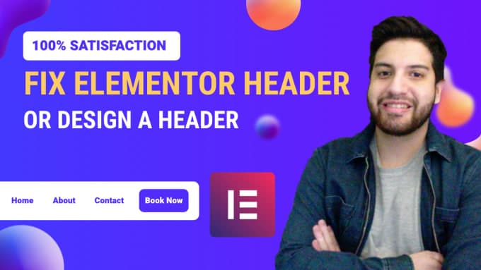 fix or design elementor header