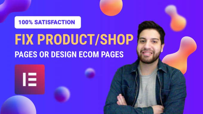 fix or design your elementor product page or shop page